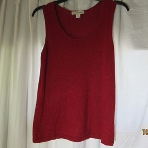 Coldwater Creek Red sparkle tank top Size M
